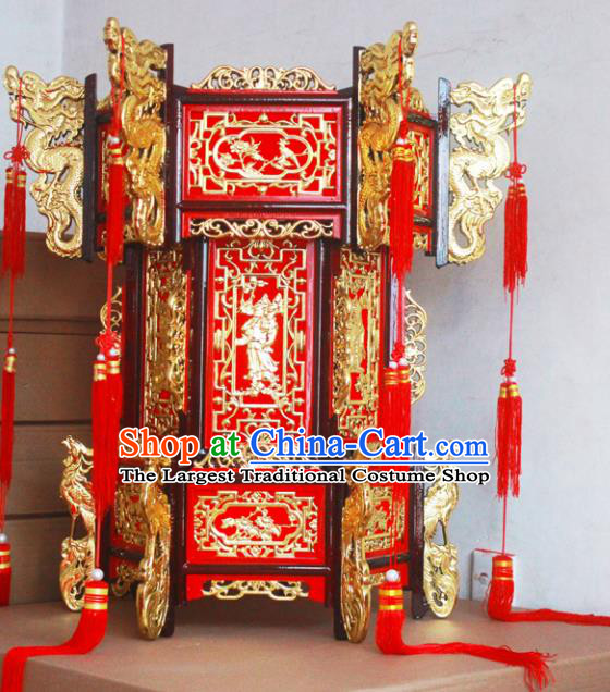 Chinese Traditional New Year Wood Carving Palace Lantern Asian Handmade Lantern Ancient Lamp