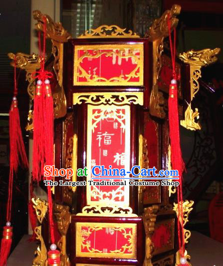 Chinese Traditional Handmade Wood Palace Lantern Asian New Year Lantern Ancient Ceiling Lamp