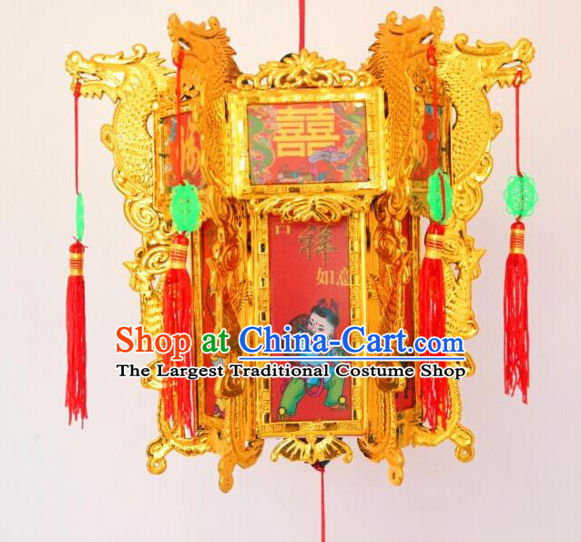 Chinese Traditional Handmade Carving Printing Red Palace Lantern Asian New Year Lantern Ancient Ceiling Lamp
