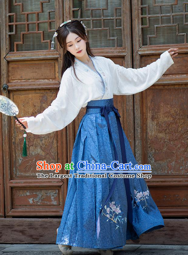 Traditional Chinese Ming Dynasty Aristocratic Lady Hanfu Dress Ancient Royal Princess Historical Costumes for Women