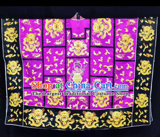 Chinese Ancient Taoist Priest Embroidered Dragon Purple Cassocks Traditional Taoism Vestment Costume