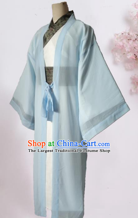 Chinese Traditional Song Dynasty Nobility Childe Costume Ancient Scholar Clothing for Men