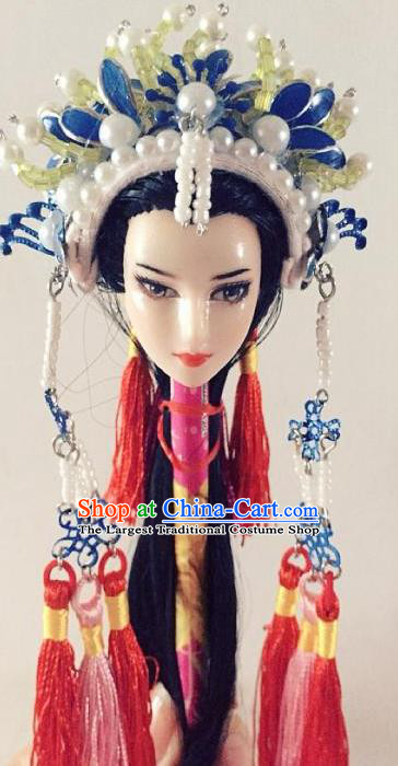 Traditional Chinese Handmade Beijing Opera Female Swordsman Phoenix Coronet Ancient Princess Hairpins Hair Accessories for Women