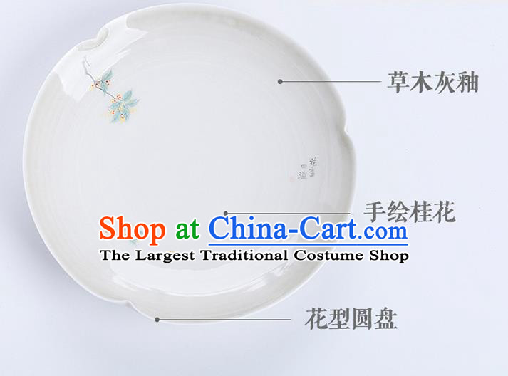 Chinese Classical Hand Made Jingdezhen Shi Teaboard Porcelain Ceramics Tea Tray