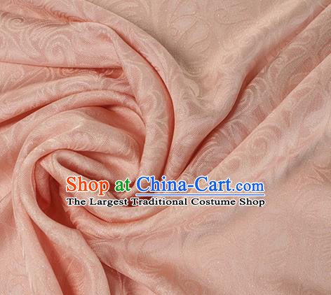 Traditional Chinese Classical Ombre Flowers Pattern Pink Silk Fabric Ancient Hanfu Dress Silk Cloth