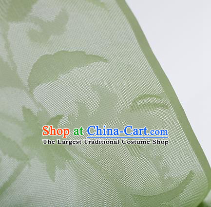 Traditional Chinese Classical Calyx Pattern Light Green Silk Fabric Ancient Hanfu Dress Silk Cloth