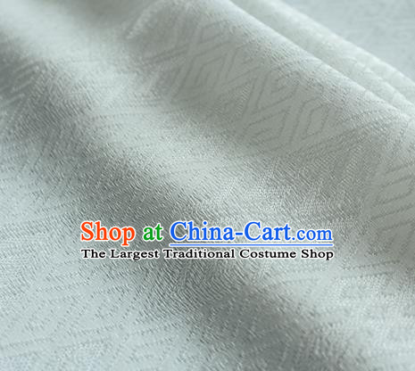 Traditional Chinese Classical Lucky Pattern White Silk Fabric Ancient Hanfu Dress Silk Cloth
