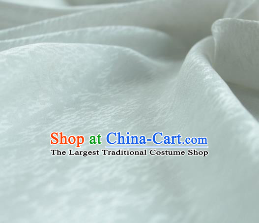 Traditional Chinese Classical Cirrus Pattern Design White Silk Fabric Ancient Hanfu Dress Silk Cloth