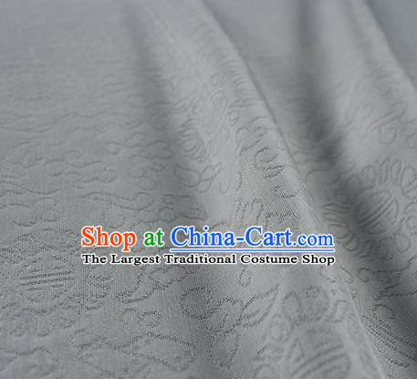 Traditional Chinese Classical Auspicious Pattern Design White Silk Fabric Ancient Hanfu Dress Silk Cloth