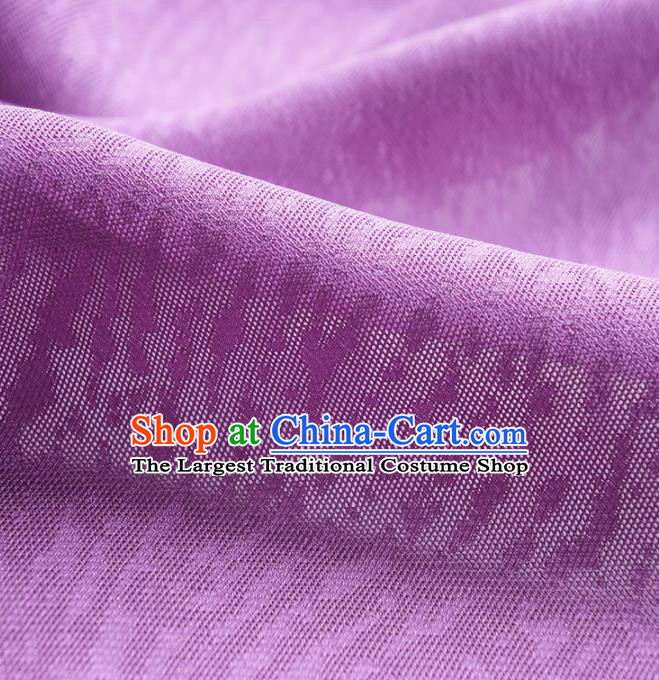 Traditional Chinese Classical Pattern Design Purple Silk Fabric Ancient Hanfu Dress Silk Cloth