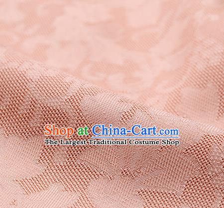 Traditional Chinese Classical Iris Flowers Pattern Design Pink Silk Fabric Ancient Hanfu Dress Silk Cloth