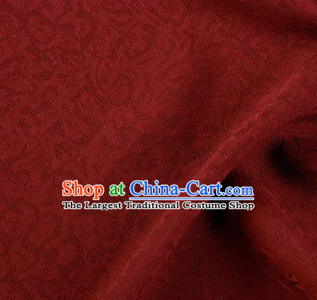 Traditional Chinese Classical Apricot Flowers Pattern Design Dark Red Silk Fabric Ancient Hanfu Dress Silk Cloth