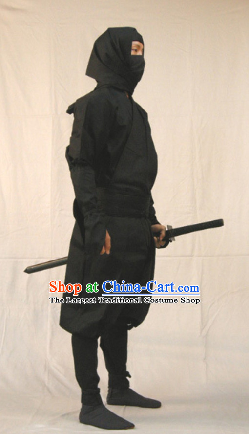 Ancient Japanese Ninja Suits Costume Japan Ninja Costumes Fighter Suits Complete Set for Men or Women