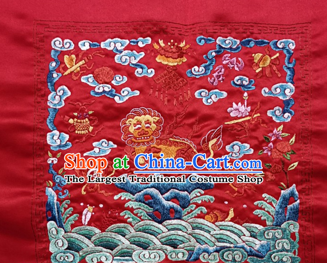 Traditional Qing Dynasty Style Officer Bu Zi Embroidery Works Arts