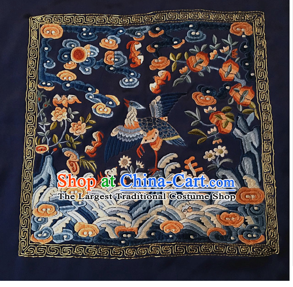 Traditional Qing Dynasty Style Officer Bu Zi Embroidery Arts