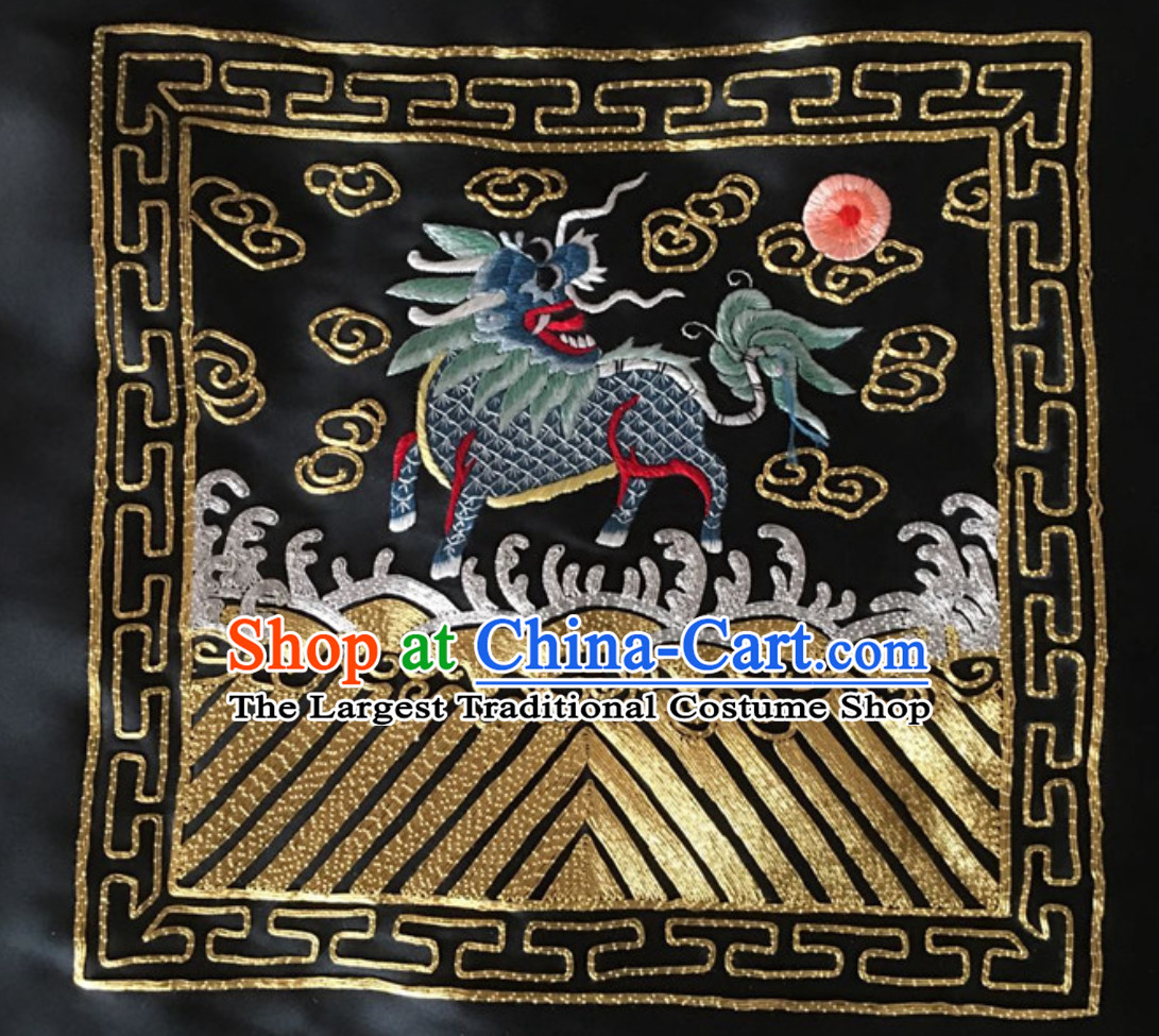 Traditional Qing Dynasty Style Officer Bu Zi Golden Pheasant Embroidery Arts