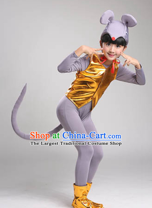 Chinese Lunar New  Year Rat Year Rat Dance Costume Complete Set