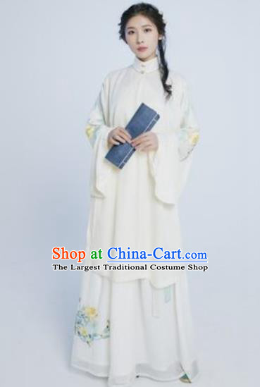 Asian Chinese Ming Dynasty Imperial Concubine Hanfu Dress Traditional Ancient Palace Countess Costumes for Women