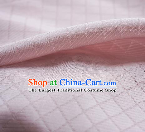Traditional Chinese Classical Lotus Pattern Design Light Pink Silk Fabric Ancient Hanfu Dress Silk Cloth