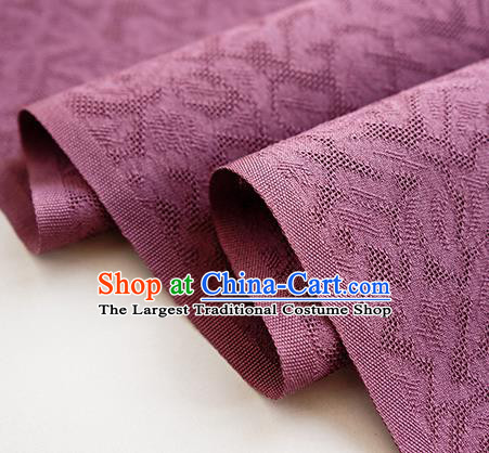 Traditional Chinese Classical Apricot Flowers Pattern Design Amaranth Silk Fabric Ancient Hanfu Dress Silk Cloth