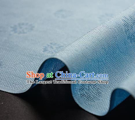 Traditional Chinese Classical Daisy Pattern Design Light Blue Silk Fabric Ancient Hanfu Dress Silk Cloth