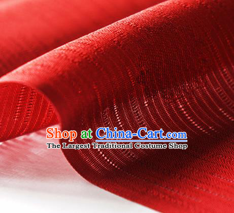 Traditional Chinese Classical Flowers Pattern Design Red Silk Fabric Ancient Hanfu Dress Silk Cloth