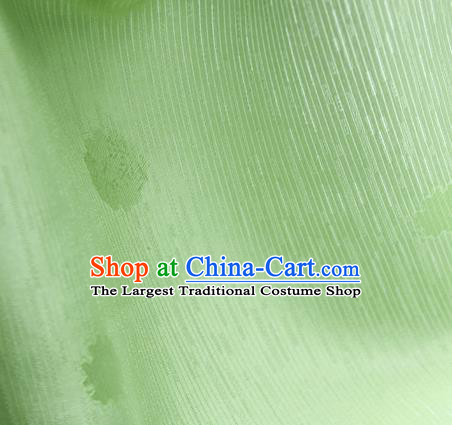 Traditional Chinese Classical Flowers Pattern Design Light Green Silk Fabric Ancient Hanfu Dress Silk Cloth