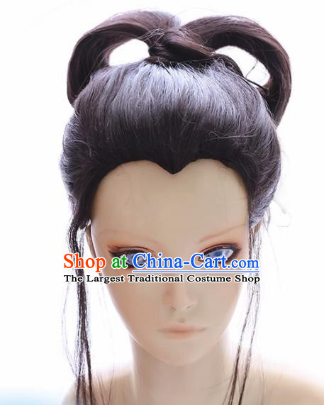 Japanese Traditional Cosplay Geisha Wigs Halloween Okuni Wig Sheath Hair Accessories for Women