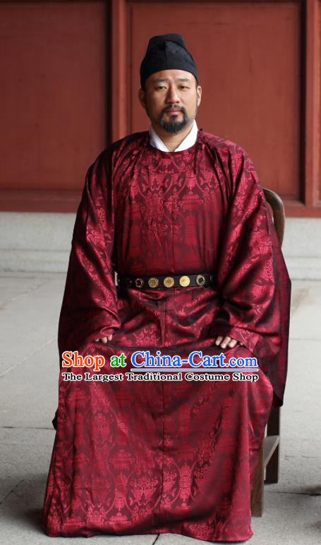 Traditional Chinese Song Dynasty Official Hanfu Robe Ancient Minister Replica Costumes for Men