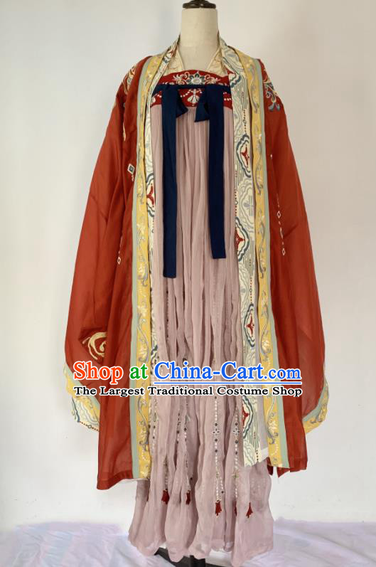 Traditional Chinese Tang Dynasty Court Lady Replica Costumes Ancient Imperial Concubine Hanfu Dress for Women