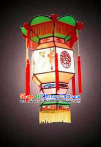 Chinese Traditional Handmade Orange Palace Lantern New Year Hanging Lamp Lantern Festival Lanterns