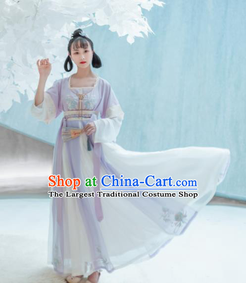Traditional Chinese Tang Dynasty Palace Replica Costumes Ancient Court Maid Hanfu Dress for Women