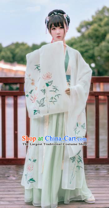 Ancient Chinese Tang Dynasty Imperial Concubine Embroidered Historical Costumes for Women