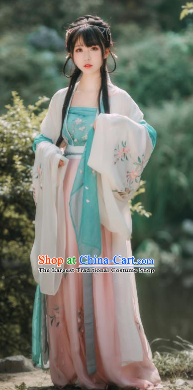 Ancient Chinese Song Dynasty Nobility Lady Embroidered Historical Costumes for Women