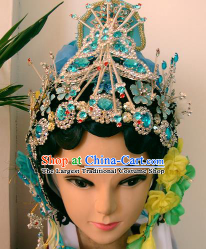 Chinese Beijing Opera Buddhist Nun Headgear Traditional Peking Opera Wig Sheath and Hair Accessories for Women