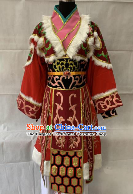 Chinese Beijing Opera Princess Red Dress Traditional Peking Opera Diva Costume for Women