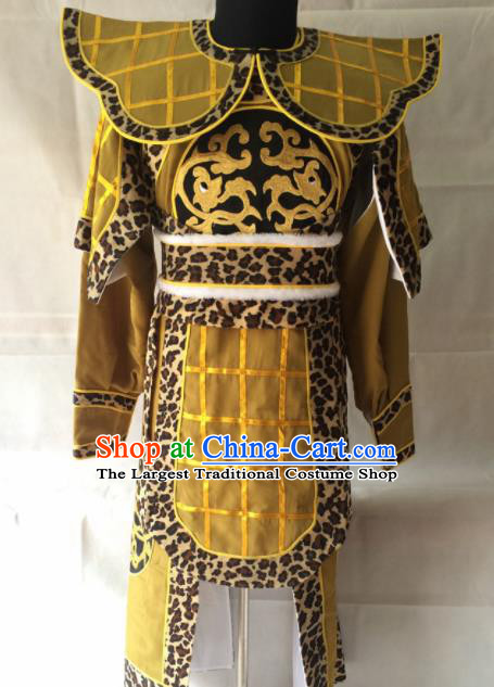 Chinese Beijing Opera Takefu Ginger Clothing Traditional Peking Opera Soldier Costume for Men