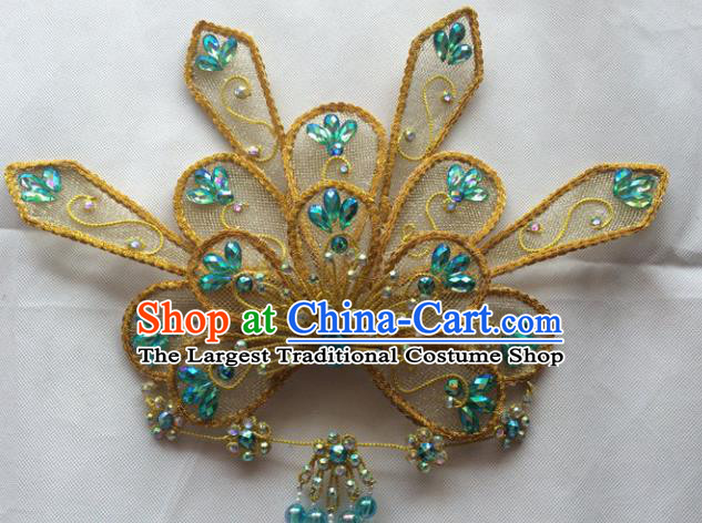 Chinese Beijing Opera Princess Hair Crown Hairpins Traditional Peking Opera Diva Hair Accessories for Women