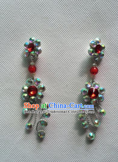 Chinese Beijing Opera Princess Earrings Traditional Peking Opera Diva Jewelry Accessories for Women