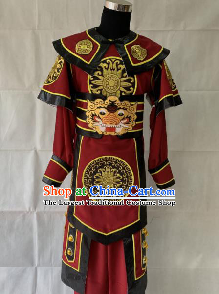 Chinese Beijing Opera Takefu Clothing Traditional Peking Opera Soldier Costume for Men