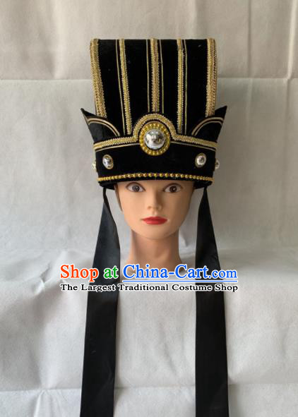 Chinese Beijing Opera Royal Highness Hat Traditional Peking Opera Prime Minister Headwear for Men