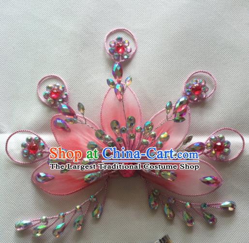 Chinese Beijing Opera Pink Hairpins Traditional Peking Opera Diva Hair Accessories for Women