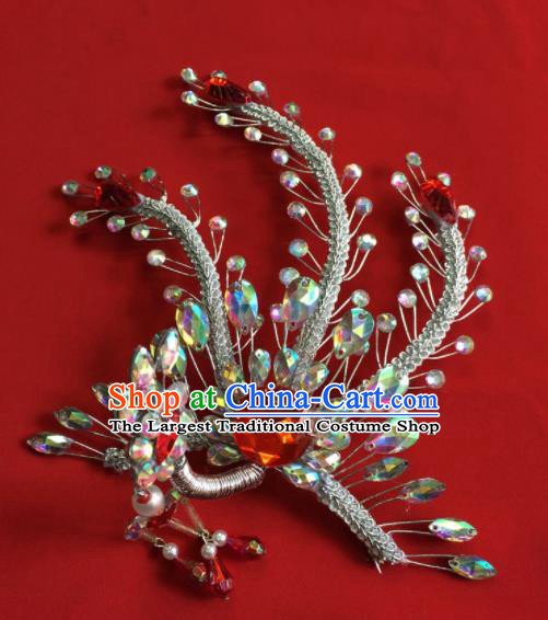 Chinese Ancient Princess Phoenix Tassel Hairpin Traditional Peking Opera Actress Hair Accessories for Women