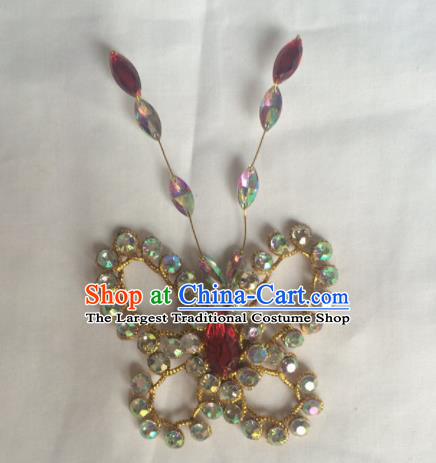 Chinese Beijing Opera Diva Butterfly Hair Claw Hairpins Traditional Peking Opera Hair Accessories for Women