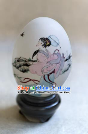 Chinese Wonder Hand Painted Beauty Butterfly Colorful Egg