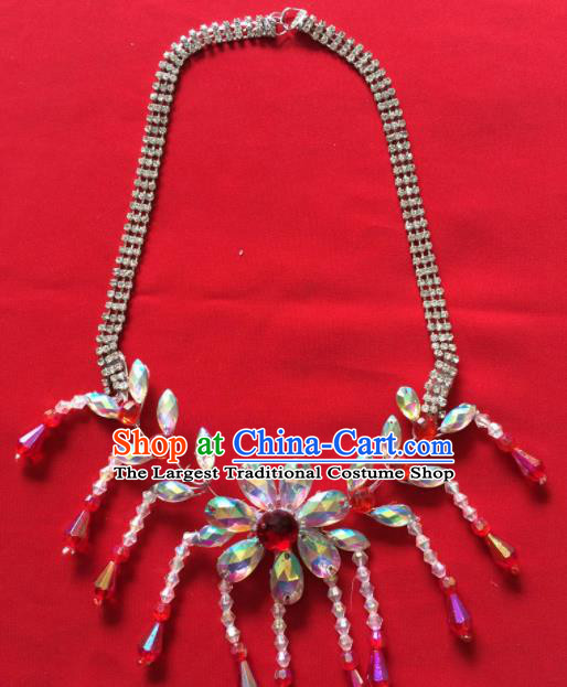 Chinese Beijing Opera Princess Necklace Traditional Peking Opera Diva Tassel Accessories for Women
