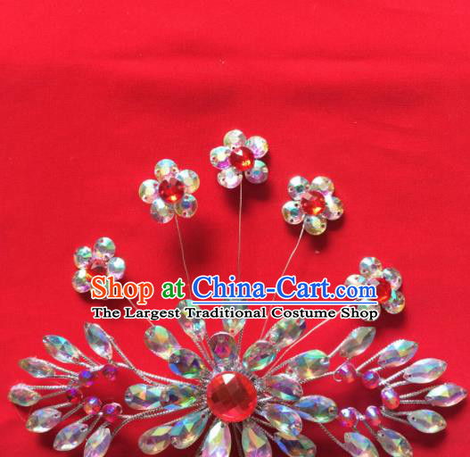 Chinese Beijing Opera Actress Hair Claw Hairpins Traditional Peking Opera Princess Hair Accessories for Women