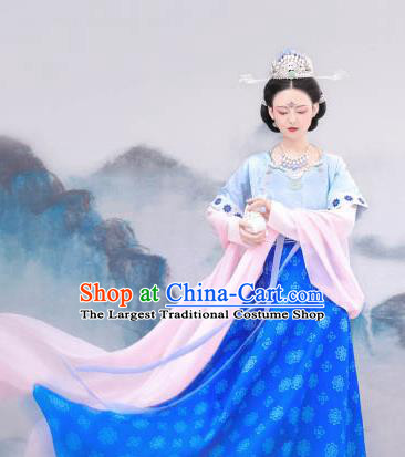 Chinese Ancient Court Lady Hanfu Dress Traditional Tang Dynasty Imperial Consort Costumes for Women
