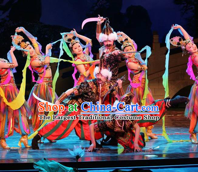 Chinese The Dream of Tang Dynasty General Stage Performance Dance Costume for Men