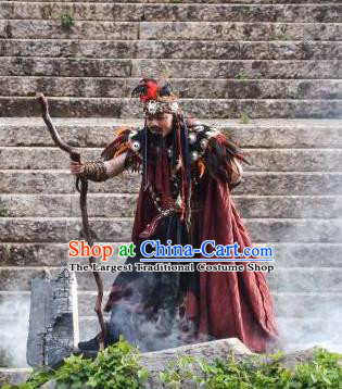 Chinese Love Song of Lijiang Ancient Donald Stage Performance Dance Costume for Men